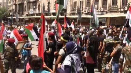 Miles de sirios y palestinos conmemoran el Día Mundial de Al-Quds
