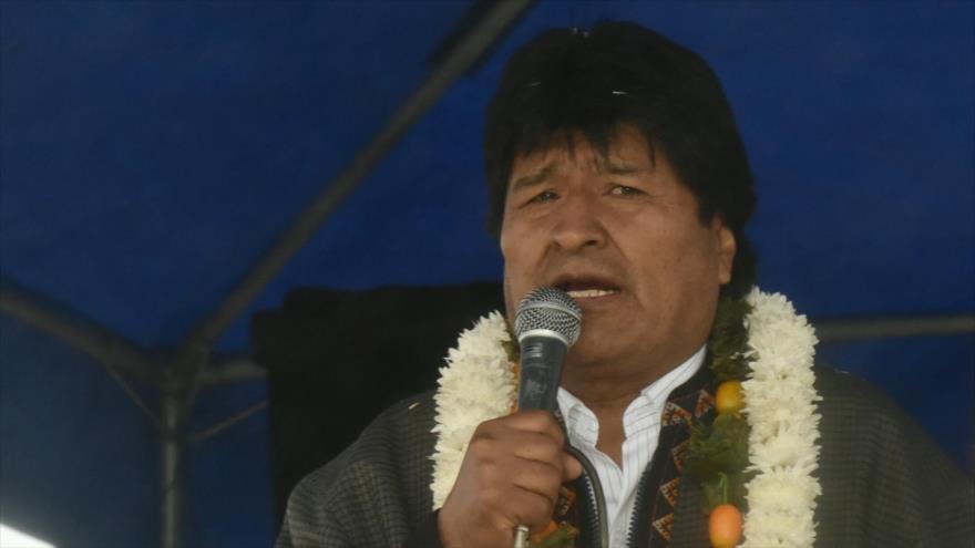 El presidente de Bolivia, Evo Morales, en un acto en Puerto Aurora (municipio de Cochabambino), 7 de junio de 2018.