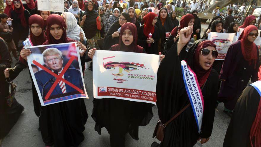 Musulmanes en Afganistán y Paquistán se solidarizan con Palestina
