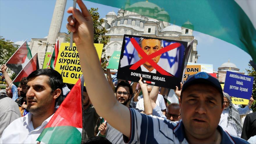Turcos condenan políticas de Israel y EEUU en el Día de Al-Quds