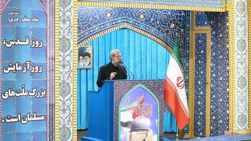 Lariyani: Musulmanes deben unirse contra el régimen usurpador de Israel