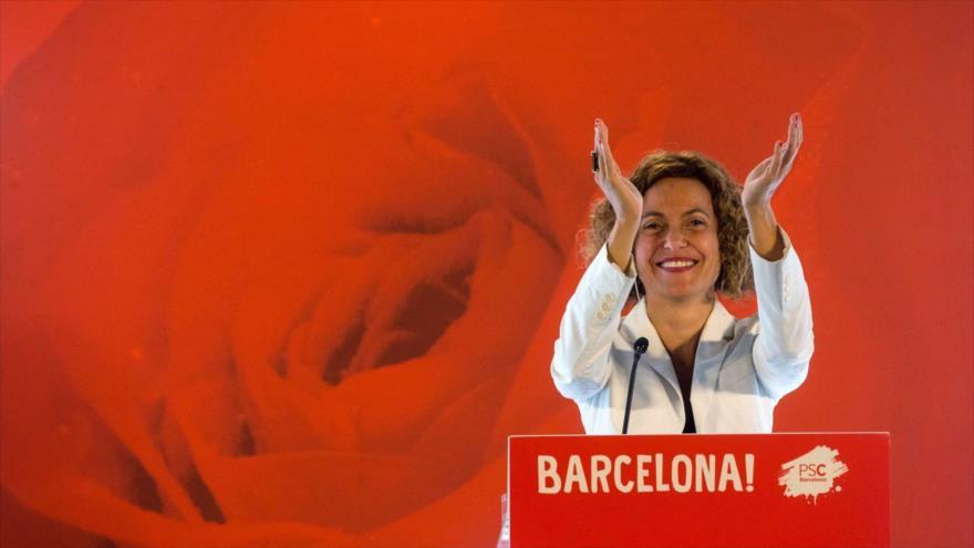 La ministra de Política Territorial y Función Pública de España,Meritxell Batet, en un evento en Barcelona, 9 de junio de 2018.