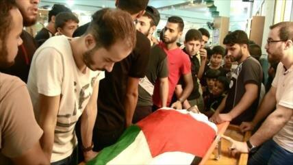 Funeral de mártires de undécimo viernes de manifestación en Gaza