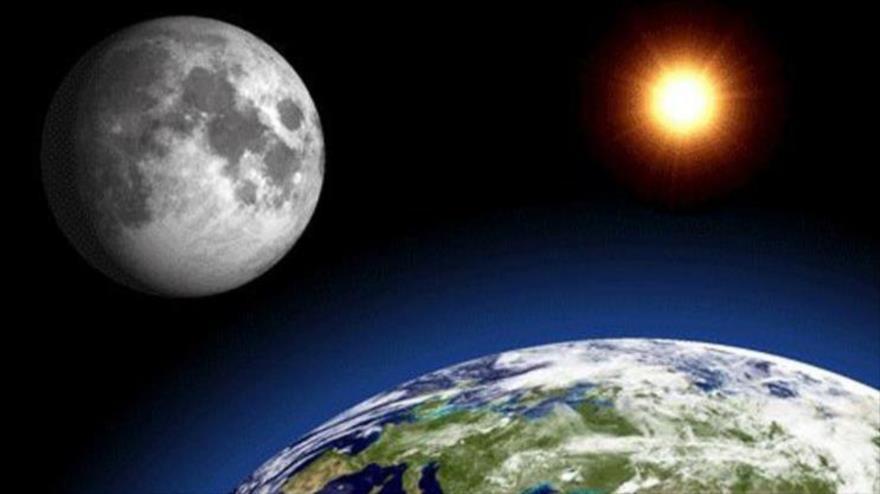 La Luna influye en la rotación de la Tierra.