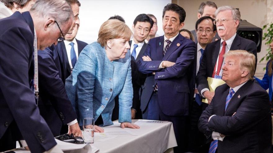 Alemania y Francia cargan contra Trump por 'destruir la confianza'