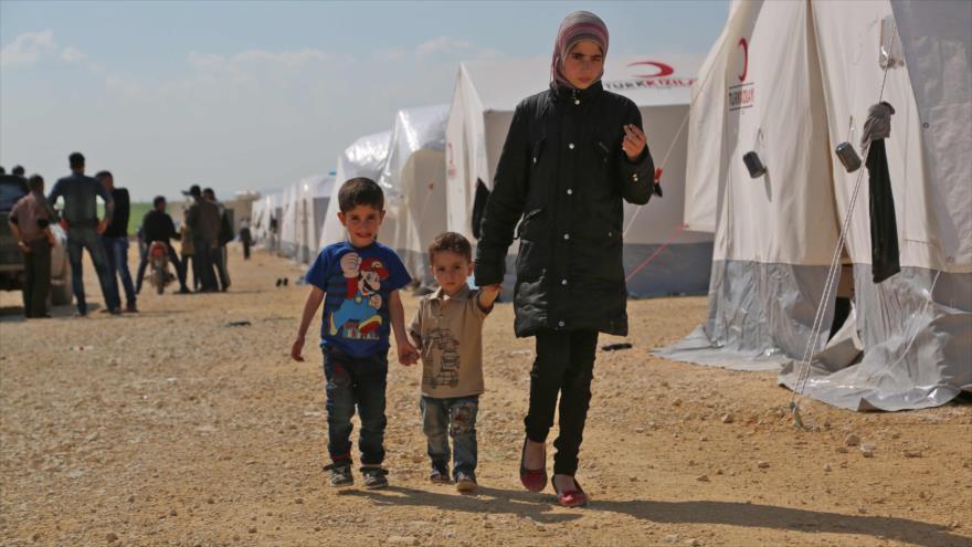 ONU: más de 920 000 desplazados sirios en primeros cuatro meses de 2018