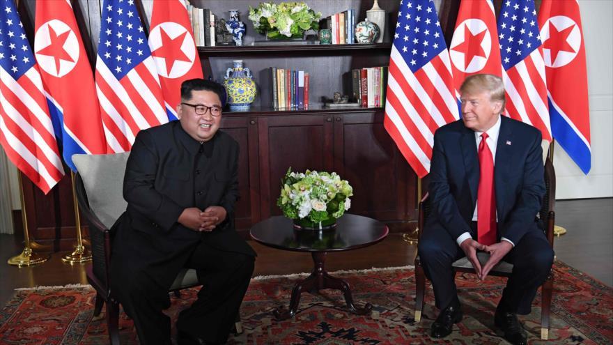 Comienza la histórica reunión de Trump y Kim en Singapur