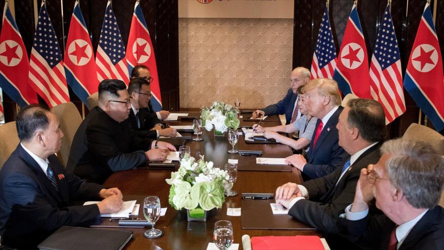 Trump asegura que junto con Kim podrá resolver 'un gran problema'