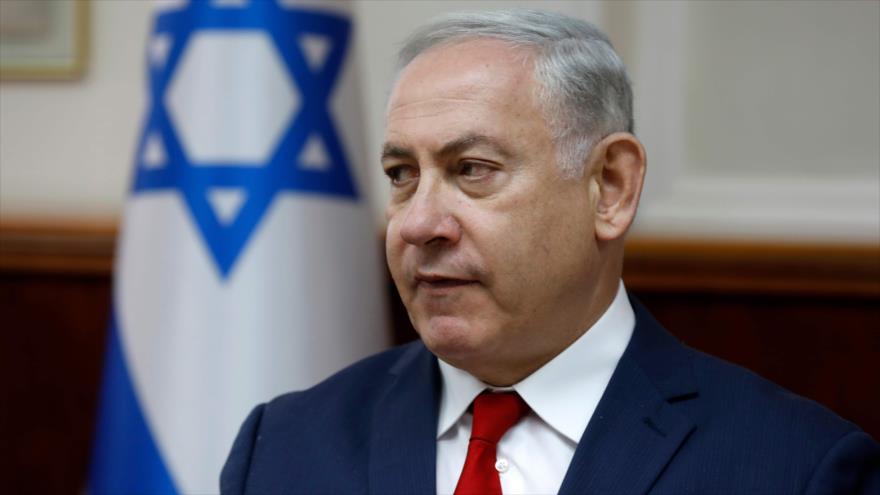 El primer ministro israelí, Benjamín Netanyahu, en una reunión con su gabinete en Al-Quds (Jerusalén), 27 de mayo de 2017.