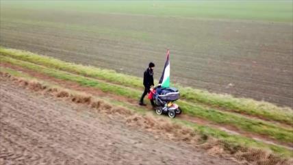 Activista sueco camina 5000 kilómetros hacia Palestina