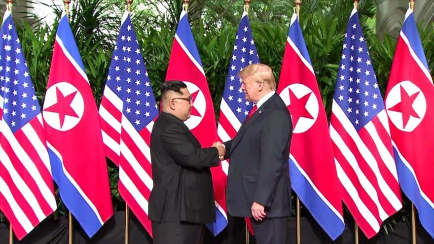 Trump: si las cosas marchan bien invitaría a Kim a la Casa Blanca