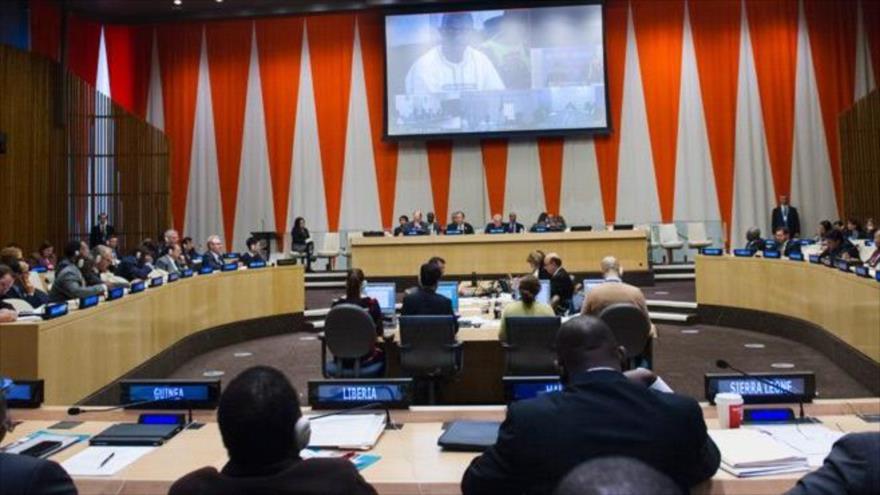 Vista general del Salón del Consejo Económico y Social (ECOSOC) de las Naciones Unidas.