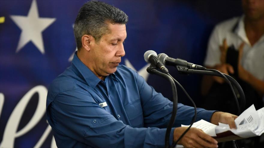 El excandidato opositor venezolano Henri Falcón, durante una conferencia de prensa en Caracas, la capital, 20 de mayo de 2018.