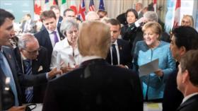 Trump publica fotos sonrientes para negar discordia en el Grupo 7