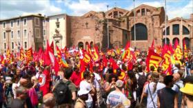 Protestan en Italia contra política migratoria del nuevo Gobierno