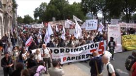 Inmigrantes protestan contra políticas represivas en Europa