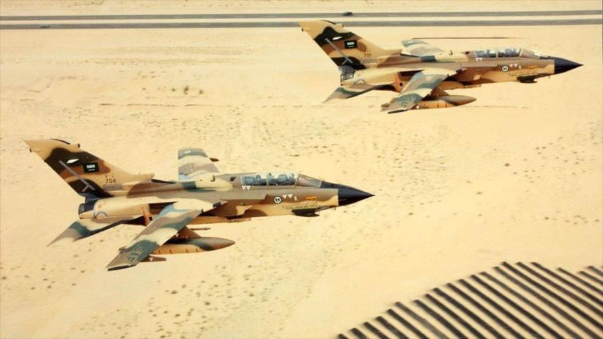 Cazabombardero saudí, modelo Panavia Tornado IDS, de producción británica.