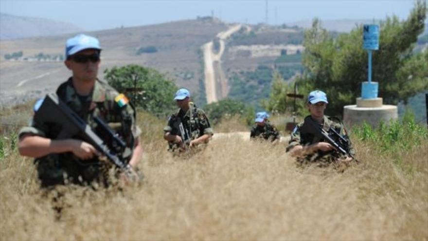 Fuerzas irlandesas de mantenimiento de paz desplegadas en los altos del Golán sirios.