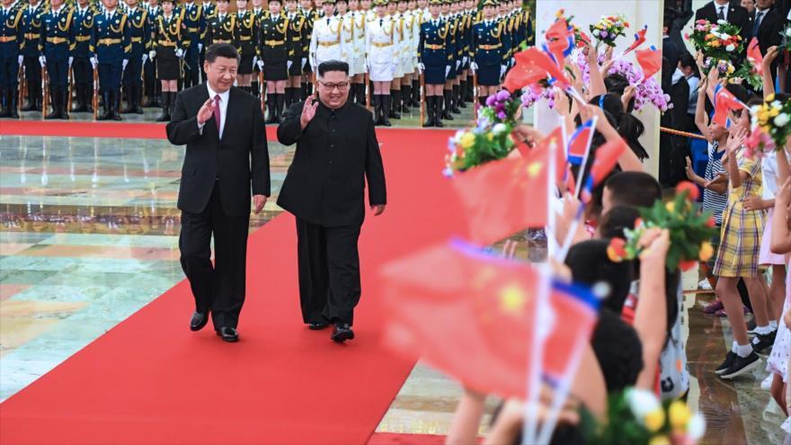 Kim Jong-un elogia la unidad de Corea del Norte con China