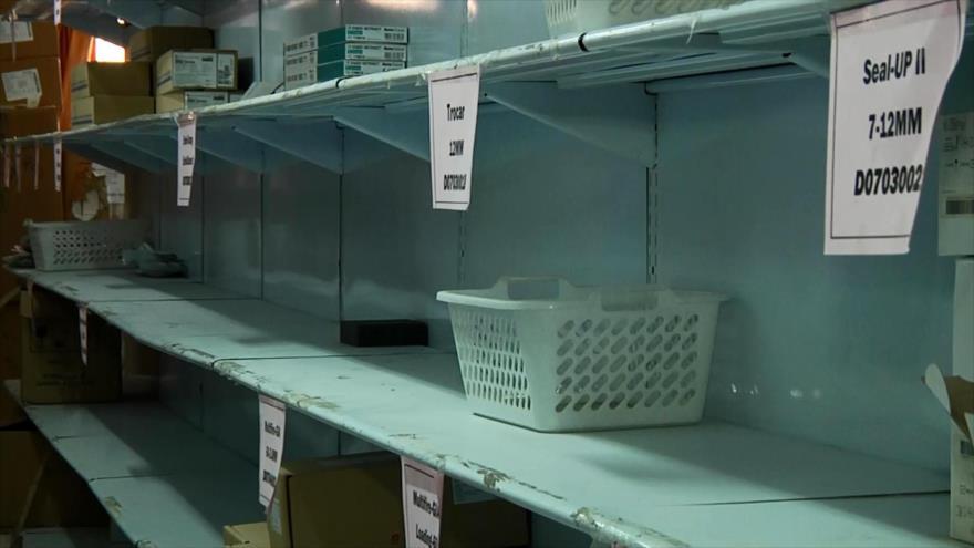 Carencia de medicamentos y suministros médicos en Gaza