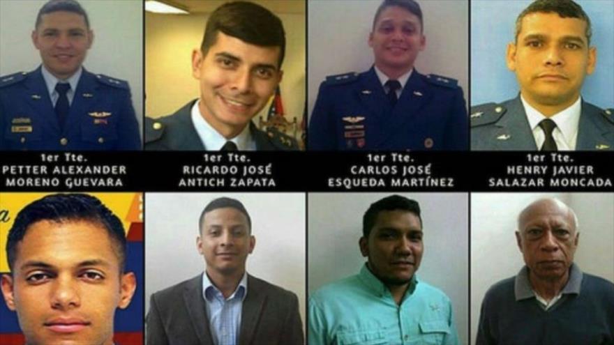 """Los cinco militares y tres civiles, condenados por """"admisión de los hechos"""" en el intento de magnicidio contra el presidente de Venezuela, Nicolás Maduro."""