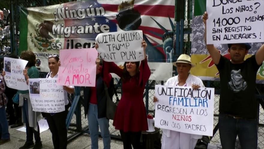 Repudian en México la separación de niños a sus familias en EEUU