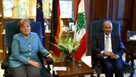 Angela Merkel realiza una visita oficial a El Líbano
