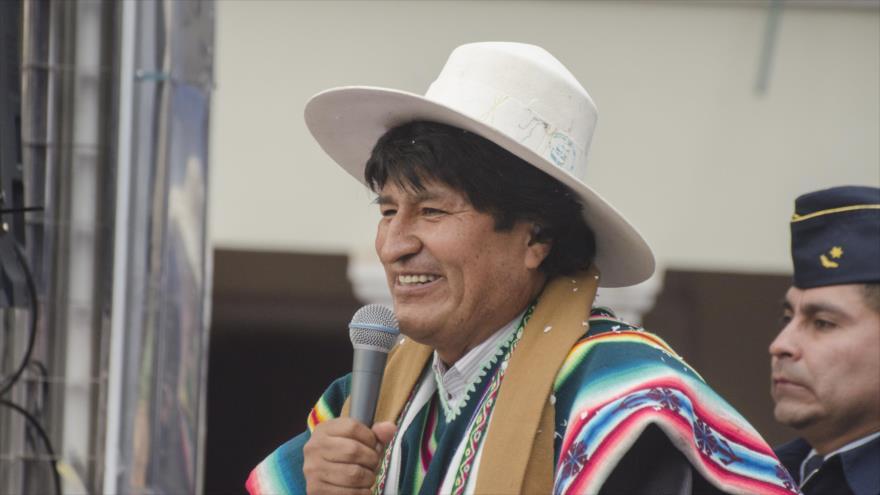 El presidente de Bolivia, Evo Morales, en un acto público en la ciudad de Oruro (oeste), 22 de junio de 2018.