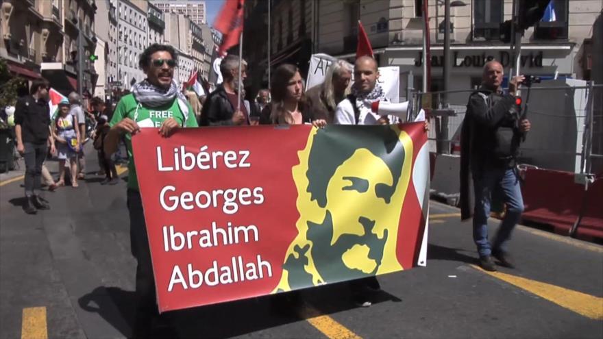 Franceses reclaman libertad de preso palestino Georges Abdulá