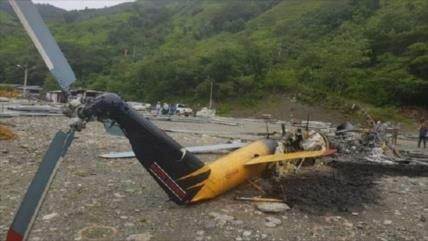 Disidentes de FARC hacen explotar un helicóptero de Colombia