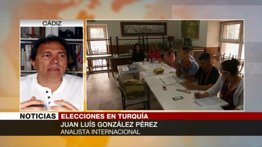 González Pérez: Si gana Erdogan se consolida su proyecto personalista