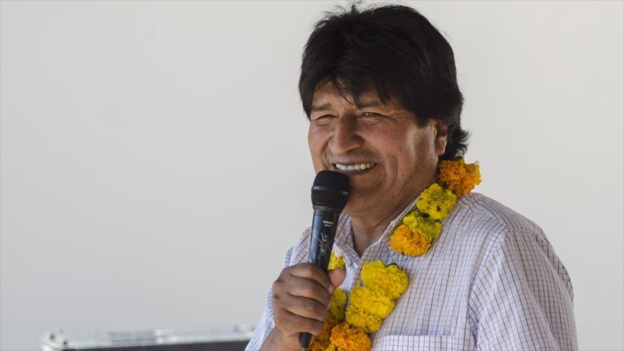 El presidente de Bolivia, Evo Morales, en Tarija, 23 de junio de 2018.