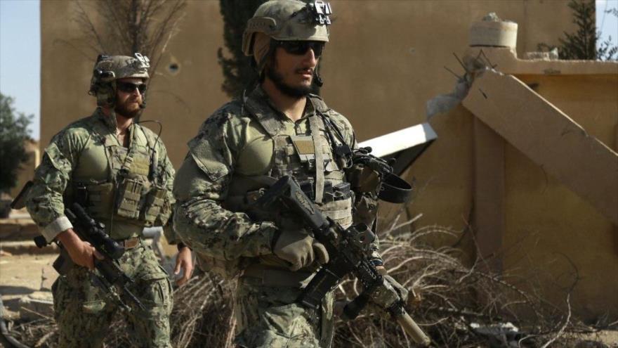 Dos soldados estadounidenses desplegados en Siria.