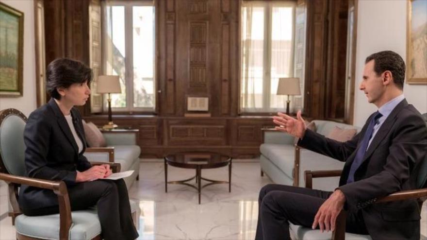 Al-Asad explica por qué Siria fue elegida para el juego de caos de EEUU