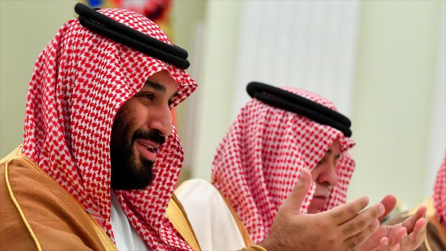 El príncipe heredero saudí, Muhamad bin Salman, en una reunión en Moscú (capital rusa), 14 de junio de 2018.