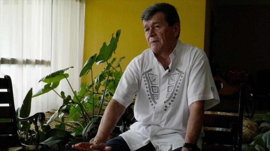 El jefe de la delegación del ELN en las conversaciones de paz con el Gobierno colombiano, Pablo Beltrán, La Habana, 18 de junio de 2018.