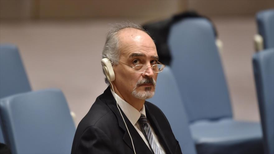 El embajador sirio ante la Organización de las Naciones Unidas (ONU) , Bashar al-Jafari.
