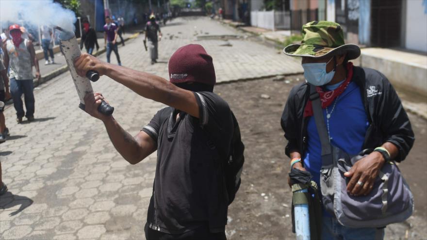 Protestas violentas en contra del Gobierno de Nicaragua en Masaya, 21 de junio de 2018.