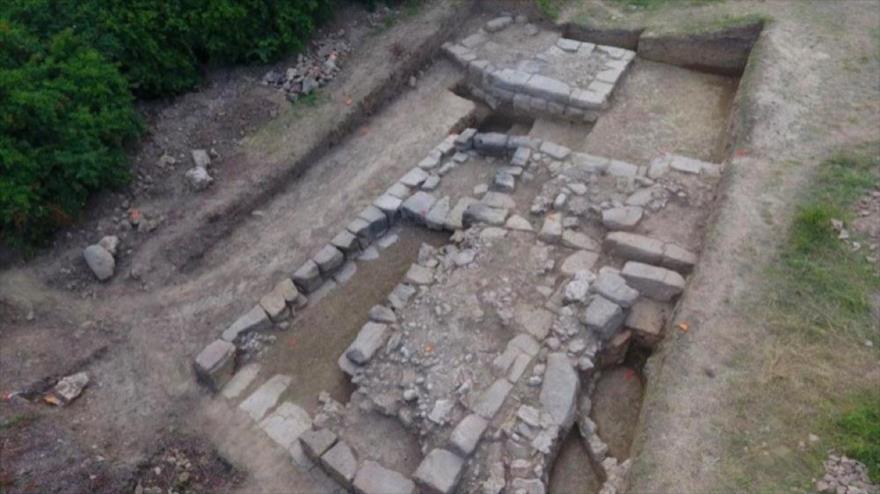 Las ruinas de la antigua ciudad descubierta por arqueólogos polacos en Albania, 11 de junio de 2018.