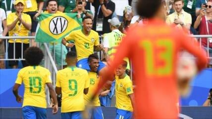Brasil derrota 2-0 a México y se mete en cuartos de final