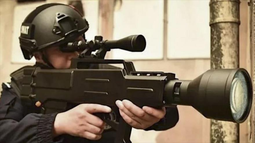 Un prototipo de rifle laser denominado ZKZM-500, de fabricación china.