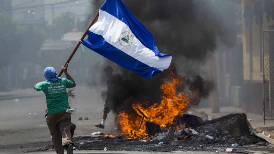 Protestas violentas en contra del Gobierno de Nicaragua, en Managua, la capital.