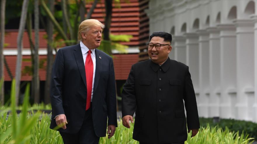 Trump dice que salvó a EEUU de una guerra con Corea del Norte