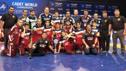 Luchadores de Irán ganan Campeonato del Mundo de Cadetes 2018