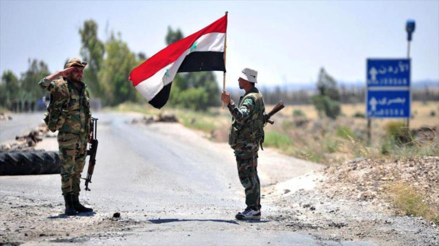 Ejército sirio retoma 230 km2 de territorio en frontera de Jordania