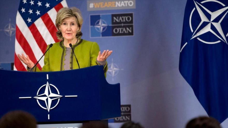 La embajadora de EE.UU. ante la Organización del Tratado Atlántico del Norte (OTAN), Kay Bailey Hutchison.