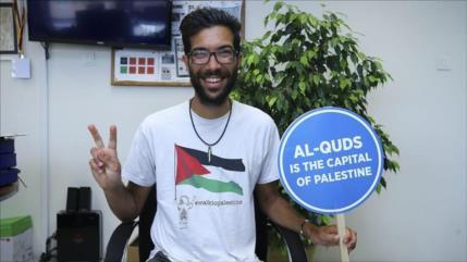 Israel niega entrada a activista sueco que caminó hasta Palestina