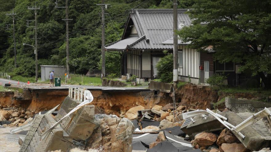 Daños provocados por las inundaciones en Japón, 7 de julio de 2018.