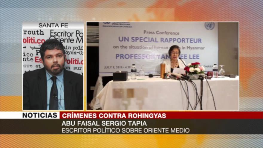 Faisal Tapia: Lobby sionista está detrás de genocidio de rohingyas