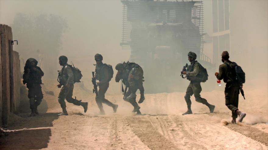 Fuerzas del régimen de Israel durante una maniobra en la base militar de Tzeelime, 3 de julio de 2018.